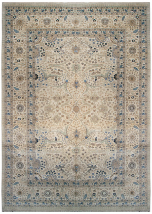 n6202 - Classic Tabriz Rug (Wool) - 10' x 14' | OAKRugs by Chelsea affordable wool rugs, handmade wool area rugs, wool and silk rugs contemporary