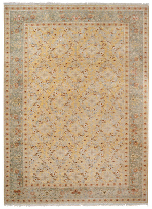 n6207 - Classic Spanish Rug (Wool and Silk) - 10' x 14' | OAKRugs by Chelsea affordable wool rugs, handmade wool area rugs, wool and silk rugs contemporary