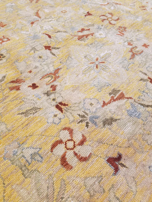 n6207 - Classic Spanish Rug (Wool and Silk) - 10' x 14' | OAKRugs by Chelsea high end wool rugs, hand knotted wool area rugs, quality wool rugs