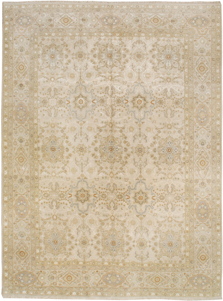 n6216 - Classic Tabriz Rug (Wool and Silk) - 9' x 12' | OAKRugs by Chelsea affordable wool rugs, handmade wool area rugs, wool and silk rugs contemporary