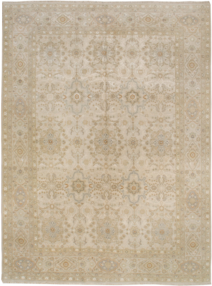 n6217 - Classic Tabriz Rug (Wool and Silk) - 9' x 12' | OAKRugs by Chelsea affordable wool rugs, handmade wool area rugs, wool and silk rugs contemporary