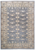 n6218 - Classic Samarkand Rug (Wool and Silk) - 10' x 14' | OAKRugs by Chelsea affordable wool rugs, handmade wool area rugs, wool and silk rugs contemporary