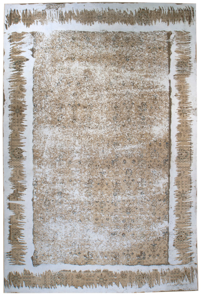 n6220 - Contemporary Distressed Rug (Wool) - 10' x 15' | OAKRugs by Chelsea inexpensive wool rugs, unique wool rugs, wool rug vintage