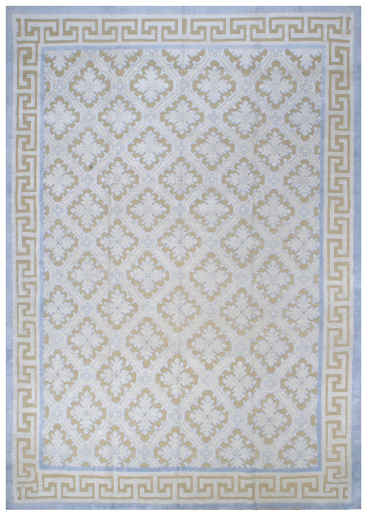 n6225 - Contemporary High and Low Rug (Wool and Silk) - 9' x 12' | OAKRugs by Chelsea inexpensive wool rugs, unique wool rugs, wool rug vintage