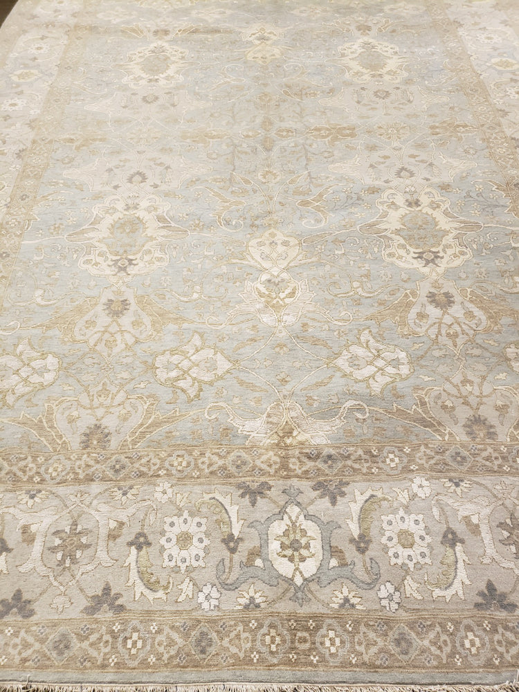 n6229 - Transitional Tabriz Rug (Wool and Silk) - 9' x 12' | OAKRugs by Chelsea wool bohemian rugs, good quality wool rugs, vintage wool braided rug