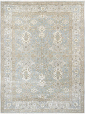 n6229 - Transitional Tabriz Rug (Wool and Silk) - 9' x 12' | OAKRugs by Chelsea affordable wool rugs, handmade wool area rugs, wool and silk rugs contemporary