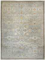 n6230 - Transitional Tabriz Rug (Wool and Silk) - 10' x 14' | OAKRugs by Chelsea affordable wool rugs, handmade wool area rugs, wool and silk rugs contemporary