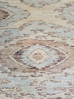 n6231 - Transitional Mid-Century Rug (Wool) - 5' x 6' | OAKRugs by Chelsea wool silk rugs contemporary, handmade modern wool rugs, wool silk area rugs contemporary