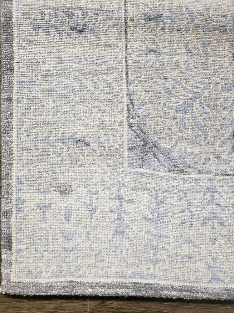 n6237 - Transitional Tabriz Rug (Wool and Silk) - 8' x 10' | OAKRugs by Chelsea wool silk rugs contemporary, handmade modern wool rugs, wool silk area rugs contemporary