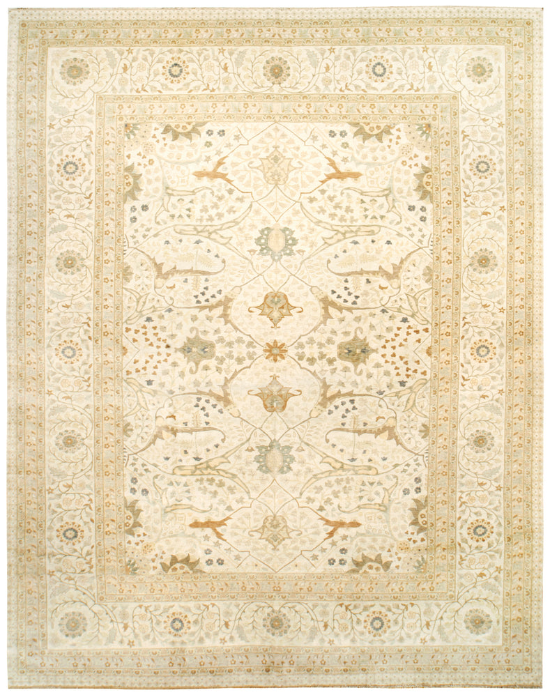 n6256 - Transitional Tabriz Rug (Wool) - 12' x 15' | OAKRugs by Chelsea high end wool rugs, good quality rugs, vintage and antique, handknotted area rugs