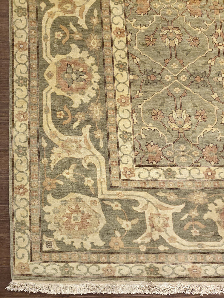n6257 - Transitional Tabriz Rug (Wool) - 13' x 14' | OAKRugs by Chelsea high end wool rugs, good quality rugs, vintage and antique, handknotted area rugs