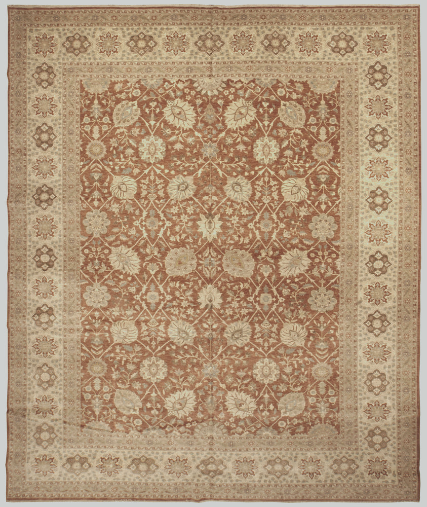 n6259 - Transitional Tabriz Rug (Wool) - 11' x 12' | OAKRugs by Chelsea high end wool rugs, good quality rugs, vintage and antique, handknotted area rugs