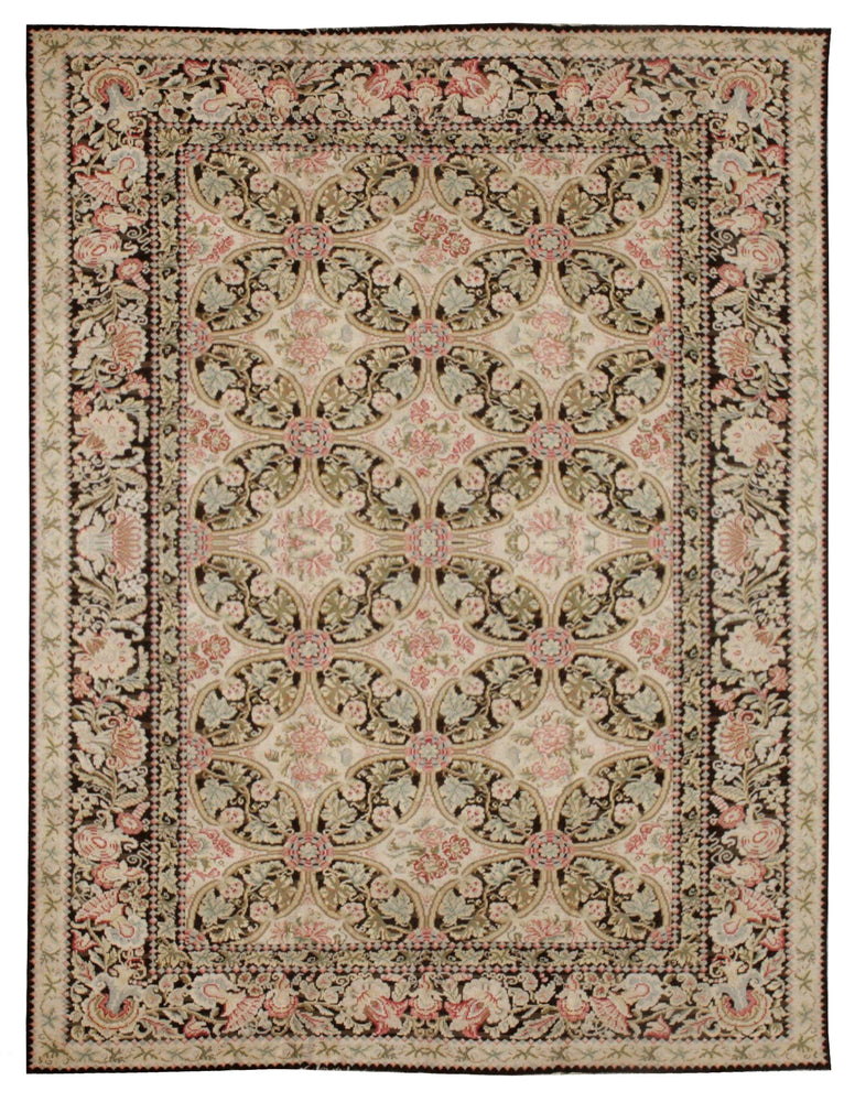 n97 - European Besserebian Rug (Wool) - 12' x 15' | OAKRugs by Chelsea affordable wool rugs, handmade wool area rugs, wool and silk rugs contemporary