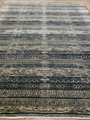 n6079 - Transitional Nandini Rug (Wool) - 8' x 10' | OAKRugs by Chelsea handmade contemporary rugs, high quality modern hand woven rugs, American made wool rugs