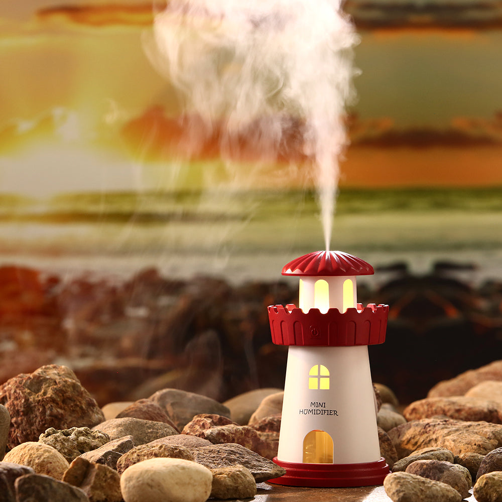 Lighthouse Air Humidifier with Night Light - Ur One Stop Shop