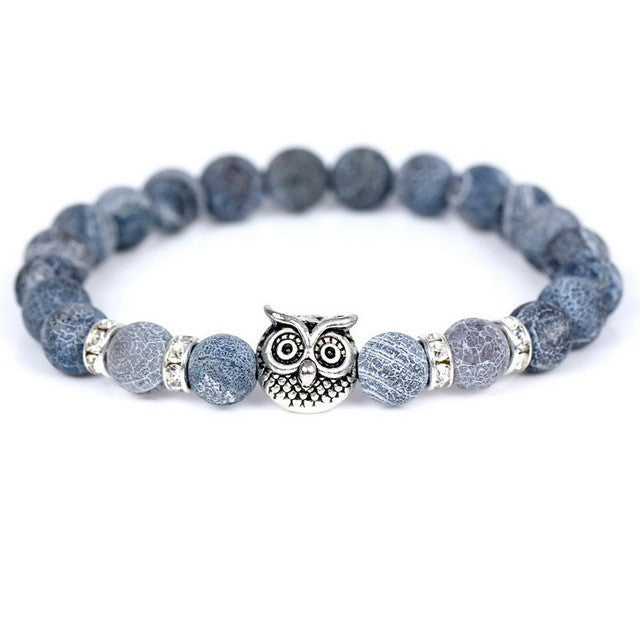 Owl Stone Bead Bracelet - Shop Moduos- Men's Accessories, Bracelets, rings, necklaces, key stubs, tie clips, fashion, style , mens fashion, mens style, mens accessories, expensive look, affordable price, swagger, moduos, shop moduos, moduos accessories, moduos style, expertly selected, nice bracelet, bead bracelet, charm bracelet, hipster bracelet, hipster beads, bead bracelet, stretchy bracelet, stylish bracelet, mens bracelet, mens watches, wrist game, mens ring, fancy ring, fancy bracelet, rich look, giveaway, instagram style, hot style, sexy style, how to look good, look attractive, attractive style, women, bling, chains