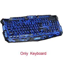 Tri-Color Backlit Computer Gaming Keyboard and Mouse
