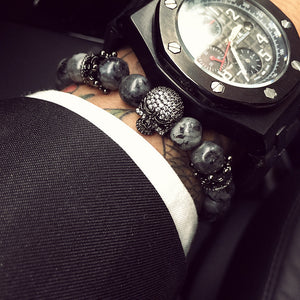 Diamond Stud Skull Beads