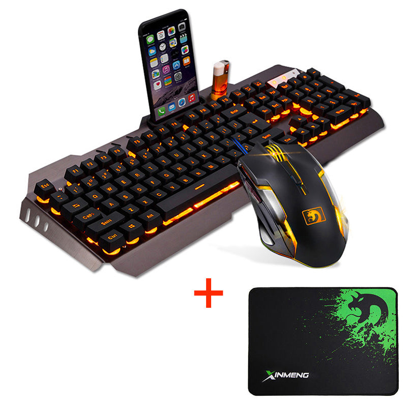 Gaming Mouse And  Keyboard W/ Dock & Pad (4 Colors)