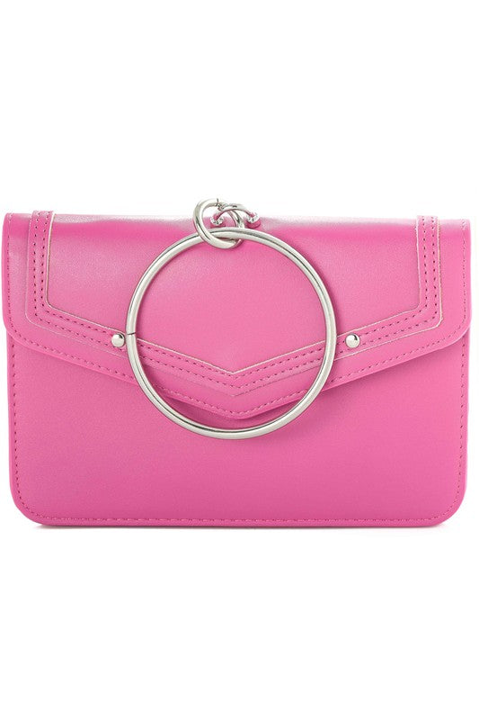Fuschia Envelope Handbag