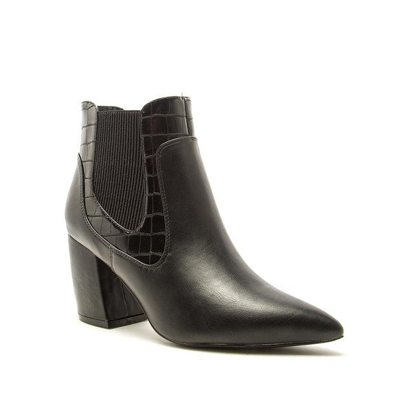 Ramona Black Alligator Ankle Boots
