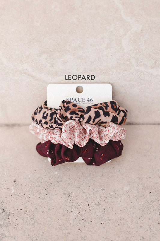 Leopard 3 Pack Scrunchie Collection