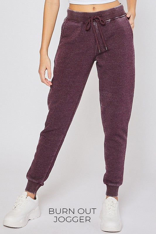 Bella Plum Acid Wash Joggers