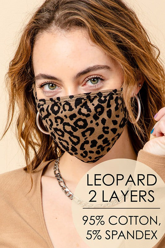 We Love A Leopard Face Mask