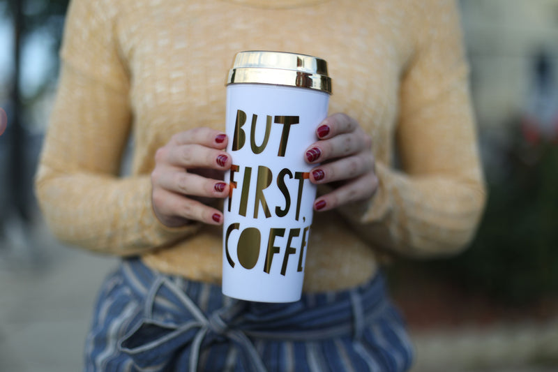 "ban.do ""But First, Coffee"" Thermal Mug"
