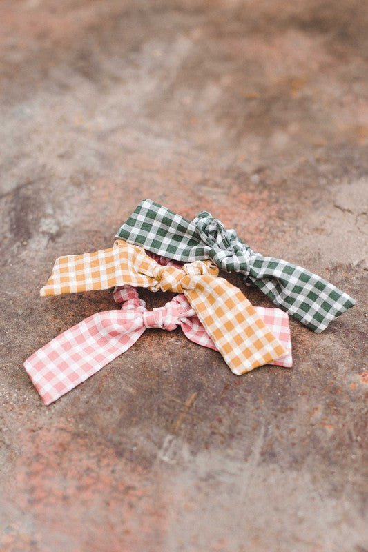 Allie Blush Gingham Scrunchie