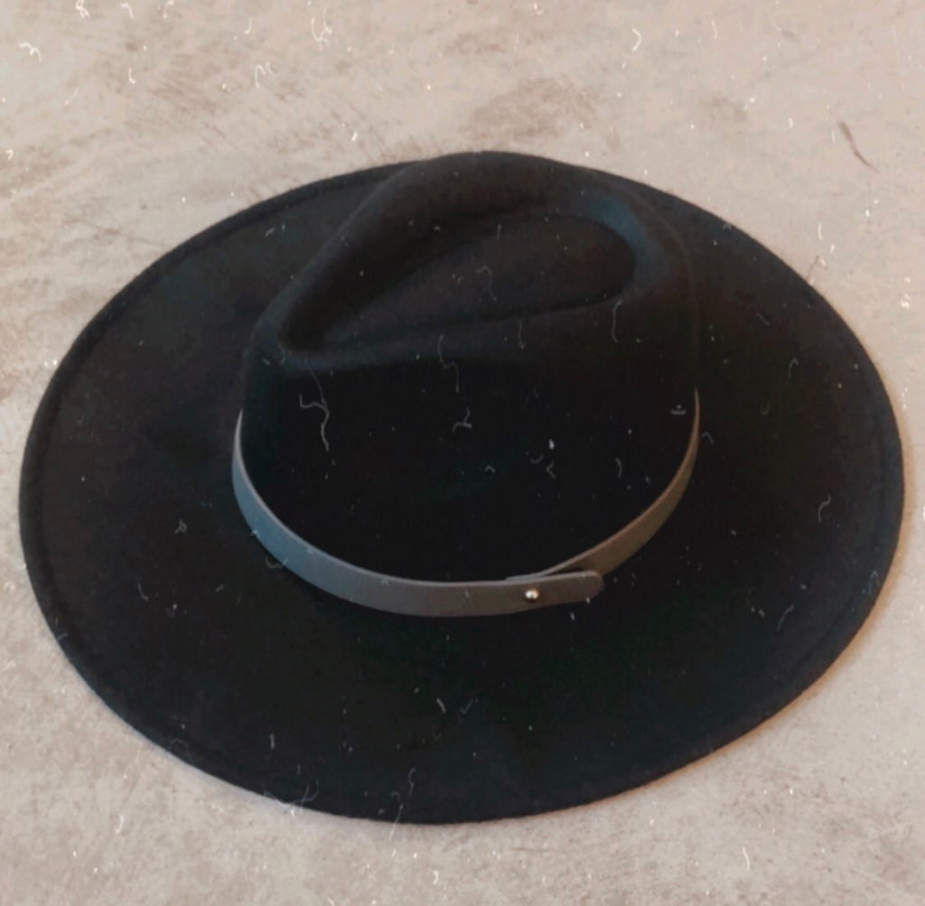 Black Wide Brim Fedora