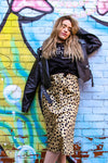 Lillian Leopard Midi Skirt