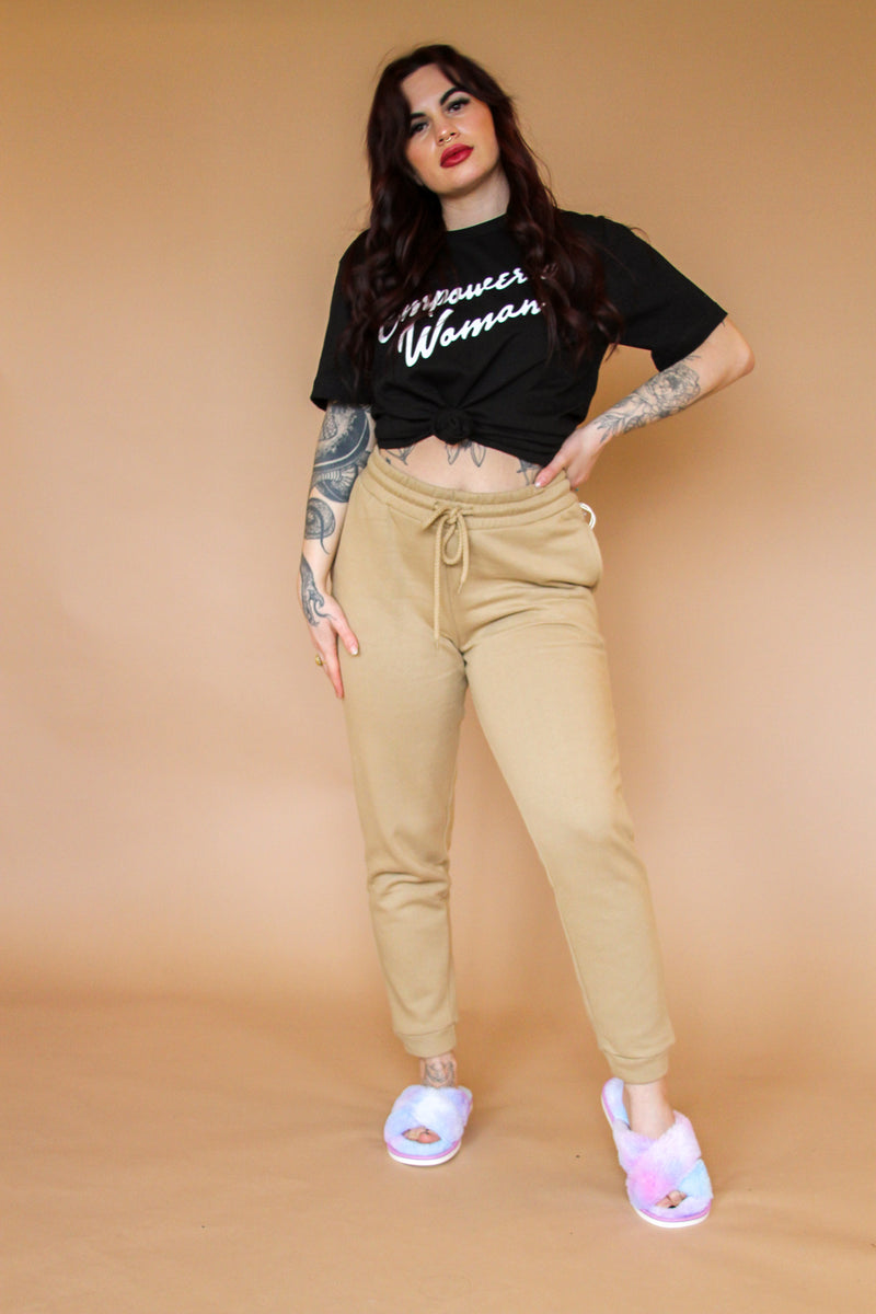 Savannah Tan Joggers