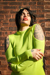 Brie Neon Open Sleeve Long Sleeve