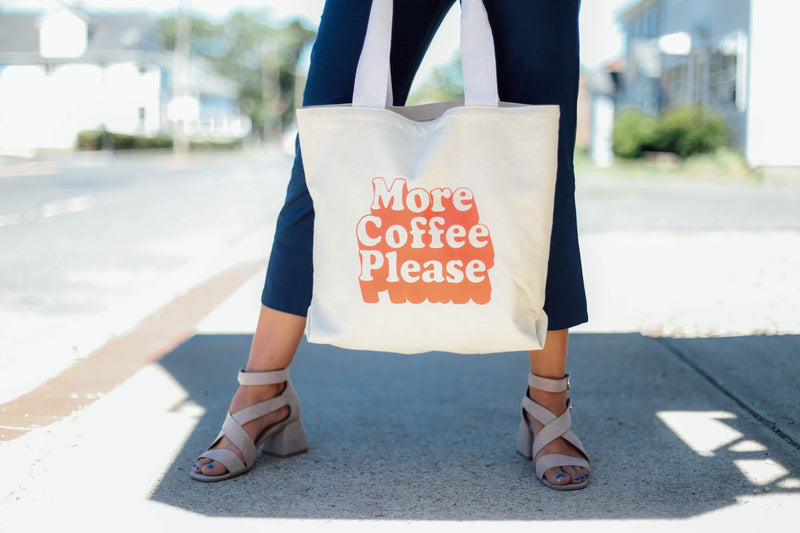 "ban.do ""More Coffee Please"" Large Canvas Tote"