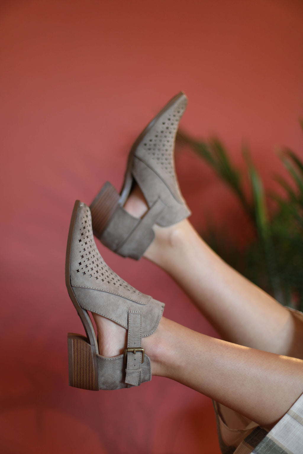 Grey Star Cut-Out Booties