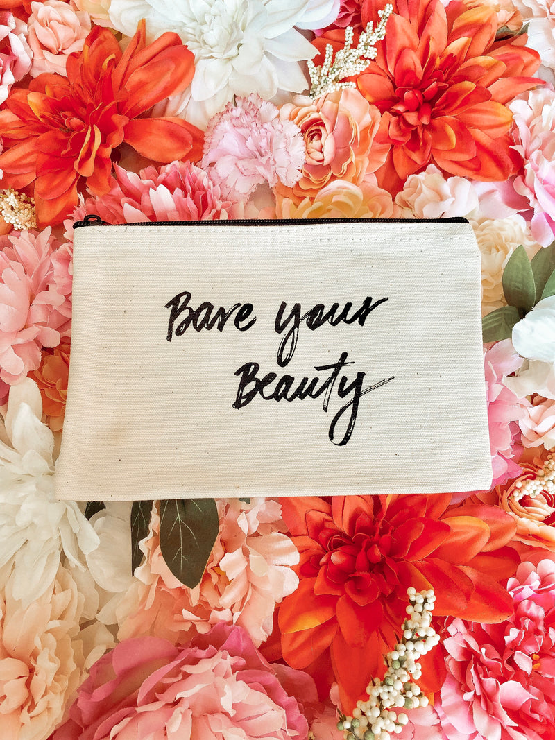 """Bare Your Beauty"" Makeup Bag"