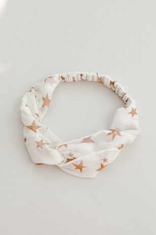 Star Print Headwrap