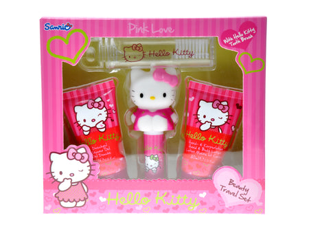 HELLO KITTY Pink Love Travel Set