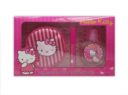HELLO KITTY  Pink Love Lipgloss, Purse and Eau de Toilette Gift Set