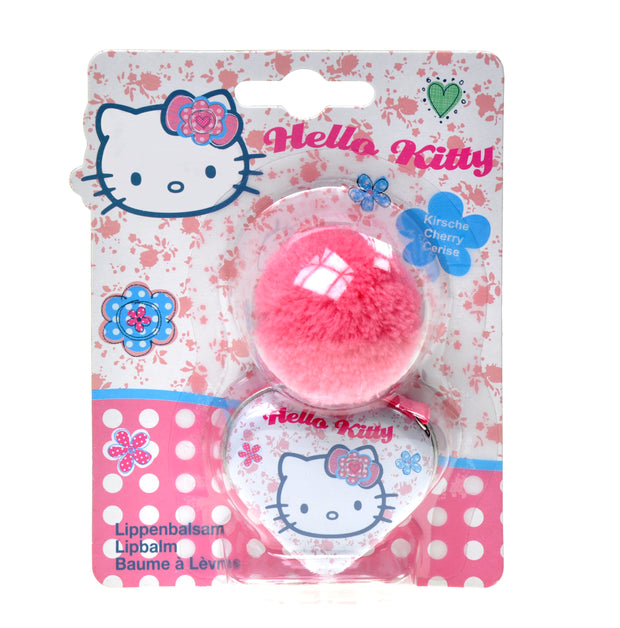 HELLO KITTY Dotty Floral Lipbalm Tin with Pompom Charm