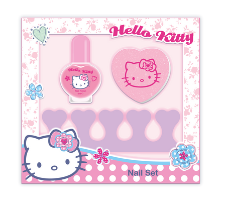 HELLO KITTY Dotty Floral Nail Set