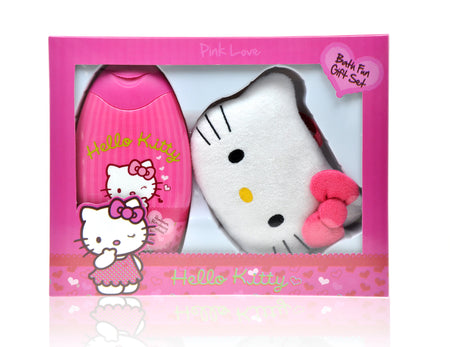 HELLO KITTY Pink Love Bath Gift Set