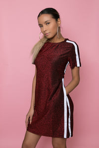 Sparkly Red T-Shirt Dres
