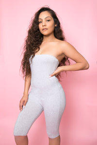 Heather gray body suit