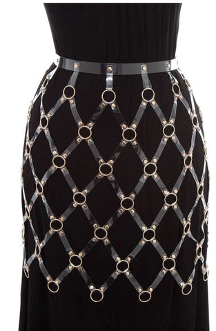 Caged Skirt Gold Clear