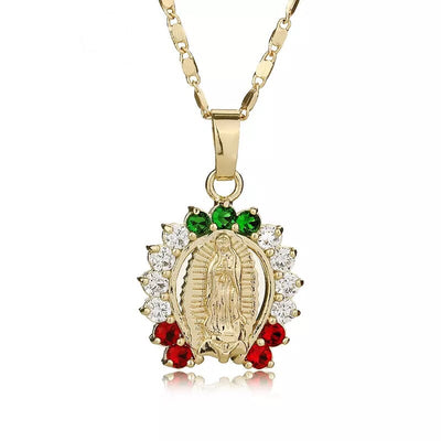 Virgin Mary multi stone