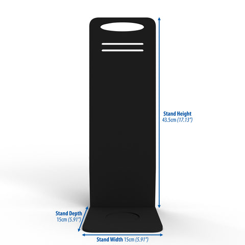 Gardian HS Monitor Countertop Stand in Black - Dimensions | From SurfaceScience