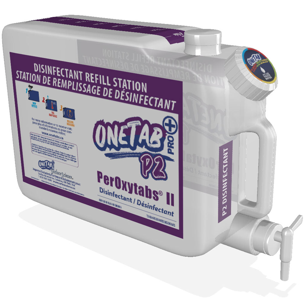 Disinfectant Refill System - OneTab PRO | Workplace Refillable Disinfectant Stations