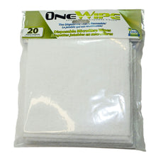 Load image into Gallery viewer, OneWipe Washable yet Disposable Microfibre Wipes | from SurfaceScience - 20 pack